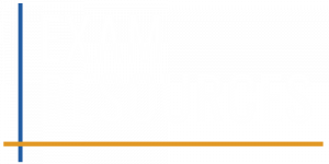 Exam resources white logo